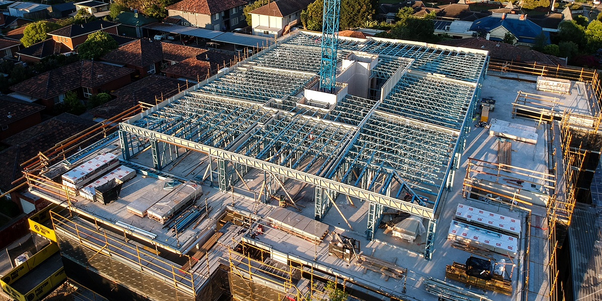 Why is Light Gauge Steel the top choice for top levels for SBS Group