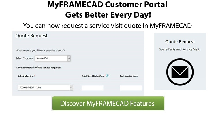 Did you know you can now request a service visit using MyFRAMECAD?