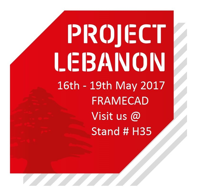 Come and join FRAMECAD at Project Lebanon tradeshow, stand H35, from 16th to 19th of May 2017