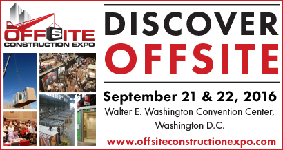 Join us on our stand 554 at the Offsite Construction Expo, Washington DC