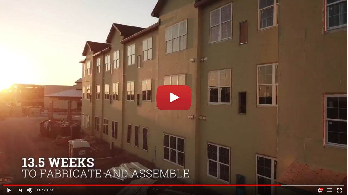 A 3-level assisted living project fabricated and assembled in only 13.5 weeks, by the Intellisteel group
