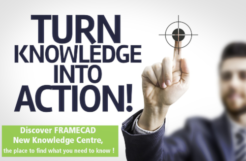 New: Visit FRAMECAD Knowledge Centre via MyFRAMECAD at anytime!